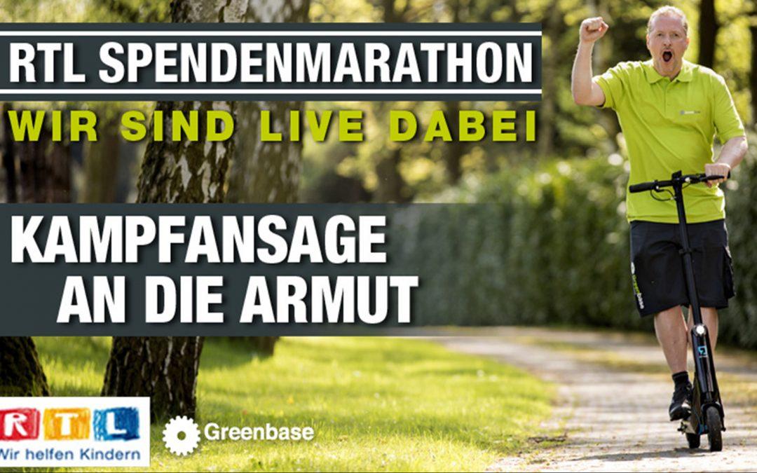 RTL Spendenmarathon 2018: Greenbase ist LIVE dabei!