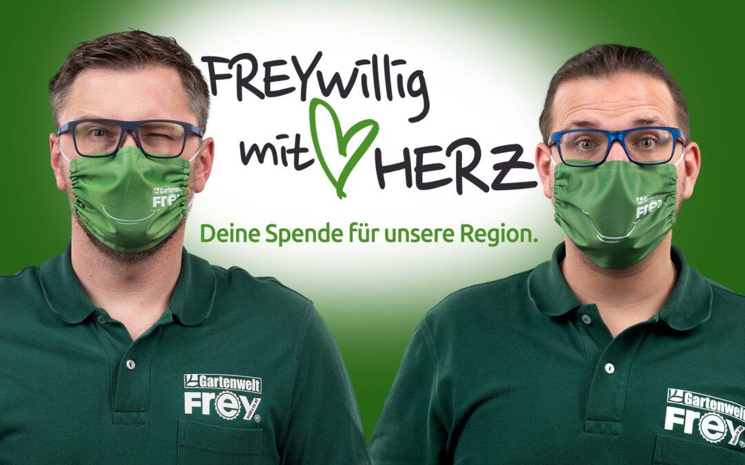 """""""Freywillig mit Herz – Deine Spende für unsere Region"""""""